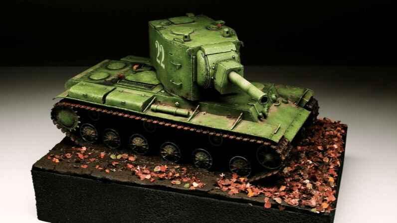 Tanks-Zvezda-Soviet Heavy Tank KV-2-3608-1
